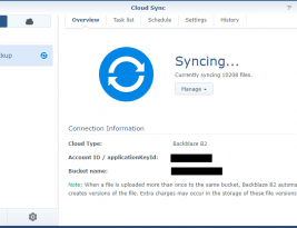 Best Pratices: Synology Cloud Sync & BackBlaze