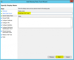 Active Directory Federation Services – Part 3 (Add SSO Trust Partner)